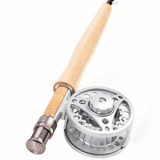 1/2/3WT Fly Rod Combo Medium-fast 6'/6.5'/7'/7.5' Fly Fishing Aluminum Fly Reel