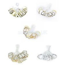 500x Label Tie String Strung For Jewelry Merchandise Gold /Silver Price Tags