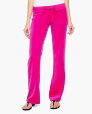 JUICY COUTURE BLING VELOUR ORIGINAL Track PANT SWEET RASPBERRY XS Black Label
