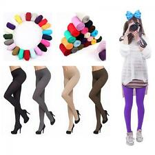 Colors Sexy Women Thick Tights Stockings Pantyhose Footed Socks Opaque