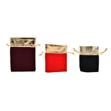 10 PCS New Velvet Jewelry Drawstring Gift Bags Pouch Wedding Party Favors ON