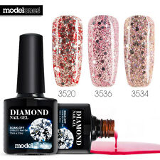 Modelones 3Pcs Glitter Diamond Color Gel Soak Off UV/LED Gel Nail Polish 10ML