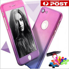 360 Full Body Hard Back Protective Case + Tempered Glass For iPhone