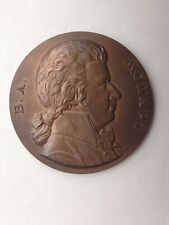 SOVIET RUSSIAN 200 YEARS OF THE BIRTH OF COMPOSER MOZART 1956 BRONZE TABLE MEDAL
