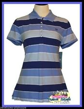 LOOK! NWT MISSES WOMANS  IZOD MARINE LAPIS  STRIPED TOP SIZE M 10-12 L 12-14
