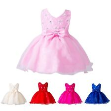 0-24M Baby Girl Newborn Christening Tutu Dress Birthday Party Wedding Dress