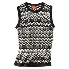 NEW! Authentic Missoni Knit Sweater Vest Top - Black & White Chevron