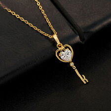 rhinestone crystal heart shape pendant necklace chain beauty alloy metal