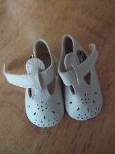 WHITE ROUND TOED PUNCH HOLE SHOE WITH BUCKLE FASTENING IN 3 SIZES