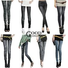 Hot Women Denim Jeans Sexy Skinny Leggings Jeggings Stretch Pants Trousers TXGT
