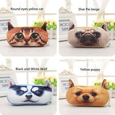 Cute Soft Plush Pencil Pen Case Novelty Makeup Cosmetic  Pouch Bag Zipper US