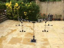 Large Gibraltar Double Bass Drum Rack with 12 cymbal/tom holders