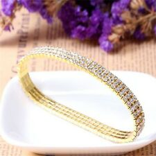 Effect Rhinestone Bright Bridal Prom Zircon Anklet Bracelet Stretch Crystal