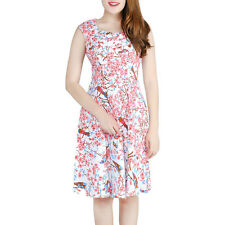 Womens Vintage 1950s Rockabilly Floral Audrey Dress Retro Cocktail Dress