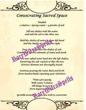 Sacred Space Circle Cast Parchment Poster Wicca Book of Shadows Spell Ritual