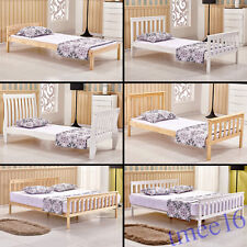 Solid Wood Bedstead Bed Frame Slatted Single Double King Size Bedroom Furniture