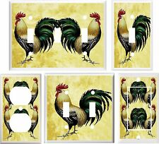 ROOSTER GOLDEN FARM INSPIRED KITCHEN LIGHT SWITCH COVER PLATE OR OUTLET V916