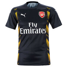 Puma Arsenal FC Stadium Football Training Jersey Soccer Shirts Black 750734-02