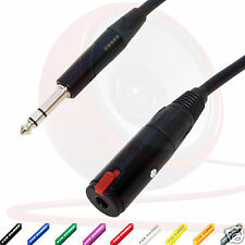 """Van Damme IEM Extension Lead. IN-EAR MONITORING Stereo Headphone 1/4"""" Jack Cable"""