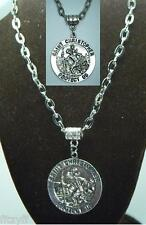 "20"" 24"" Inch St Christopher Necklace Religious Saint Άγιος Χριστόφορος Catholic"