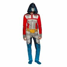 Transformers Hooded One PieceADULT Pajama Optimus Prime NEW FREE SHIPPING
