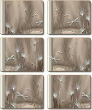 Country Kitchen LATTE DRAGONFLY Cork Backed Placemats Set 6 Cinnamon NEW