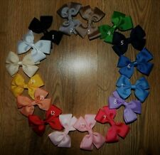 girls handmade grosgrain hair bows clips school xmas party NEXT day post