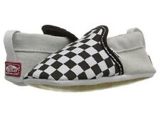 Vans Classic Slip-On Crib Black/White Checker Canvas Baby/Toddler Crib Shoes