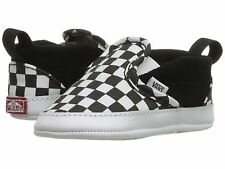 Vans Classic Slip-On V Checker Black/White Canvas Baby/Toddler Crib Shoes