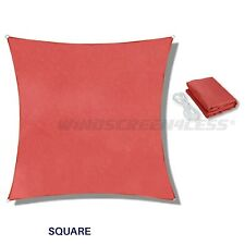 Sun Shade Sail Square Canopy Awning  Patio Pool Cover Outdoor UV Top Custom Red