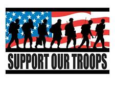 Custom Made T Shirt Support Our Troops Military Men Women Flag Patriotic