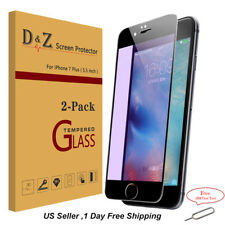 2PK Tempered Glass Anti Blue Ray Screen Protector Guard Shield For iPhone 7 Plus