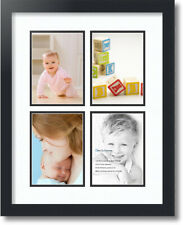 """ArtToFrames Collage Mat Picture Photo Frame - 4 5x7"""" Openings in Satin Black 3"""