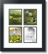 """ArtToFrames Collage Mat Picture Photo Frame - 4 4x5"""" Openings in Satin Black 5"""
