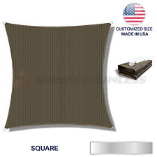 Custom Brown Square Sun Shade Sail Canopy Awning  Patio Pool Cover Outdoor UV