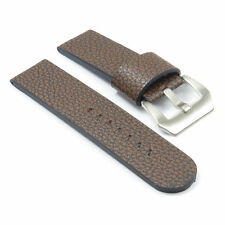 DASSARI Aztek Brown Leather Watch Strap Band Panerai w Brushed Steel PreV Buckle