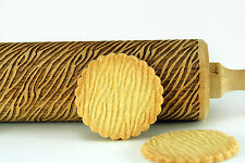 Engraved wooden rolling pin laser cut any pattern unique design cookies embossed