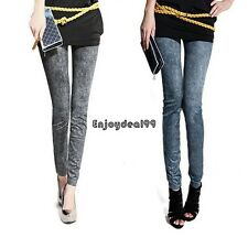 Sexy Women Jeggings Stretch Skinny Leggings Jeans Pencil Pants Snowflake OO55