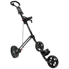 MASTERS 3 SERIES 3 WHEEL GOLF TROLLEY -NEW PREMIUM PUSH CART FOLDING BUGGY BLACK
