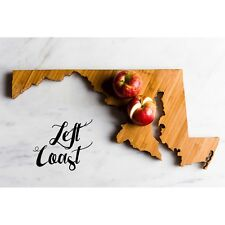 Maryland Cutting Board Personalized Home State Monogram Engraved Carved Wood