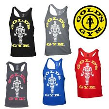 Golds Gym Tank Top Classic Stringer Fitness clothing Bodybuilding Gym Wear NEU