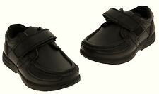 Kids Boys GOLA Black Trainers Coated Leather School Shoes  Sizes 9 10 11 12 13 1