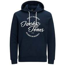 Jack and Jones Jorraffa Hooded Sweat in Total Eclipse