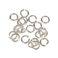 20 SILVER PLATED Metal SUPER STRONG JUMP RINGS 3/4/5/6mm Jewelry Making Findings