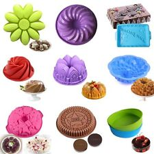 Round Silicone Cake Mold Pan Muffin Chocolate Pizza Pastry Baking Tray Mould HOT