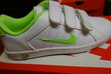 NIKE COURT TRADITION 2 PLUS WHITE/LIME GREEN GIRLS/WOMENS