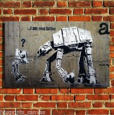BANKSY I AM YOUR FATHER STAR WARS CANVAS WALL ART PRINT PICTURE MEDIUM/LARGE
