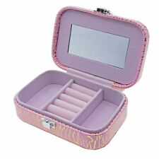 Leather Travel Jewelry Box Organizer Display Storage Case for Rings Earrings NEW