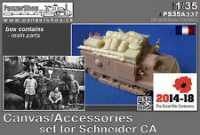 Canvas, Accesories, Decals set for Schneider CA Hobbyboss 1/35 Panzershop resin