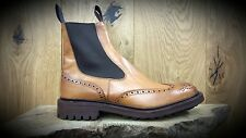 TRICKERS // Henry // Handmade 1001 Burnished Tan Chelsea Boots // NEW!!!